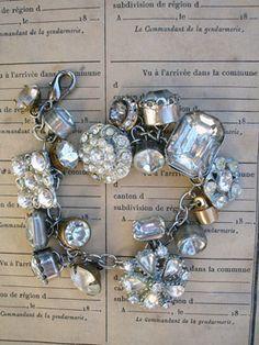 ♥ vintage rhinestone button bracelet