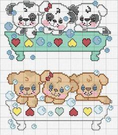 Resultado de imagem para cross stitch runner pattern