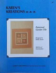 patterned garden tile by karens kreations - npp1