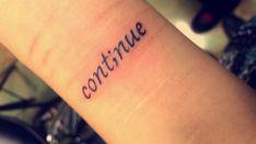 Beautiful personalization to the semicolon tattoo