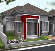 house design and architecture consultant. Minimalist Home Interior, Minimalist House Design, Modern House Design, One Storey House, Modern Bungalow House, Latest House Designs, Independent House, Design Exterior, Best House Plans