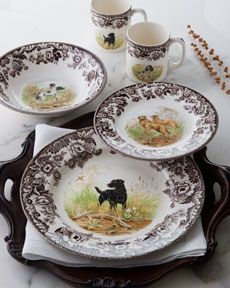 "Spode ""Woodland Hunting Dog"" Dinnerware"