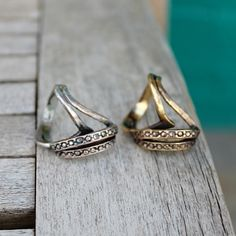 art deco rings by sirius* lux (Thanks, Treehouse Brooklyn!) https://www.etsy.com/shop/treehousebrooklyn