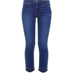 FRAME Denim Le Straight Jeans (25.090 RUB) ❤ liked on Polyvore featuring jeans, high rise jeans, high-waisted jeans, blue jeans, high waisted straight leg jeans and straight leg jeans