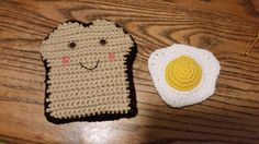 Crocheted toast and egg