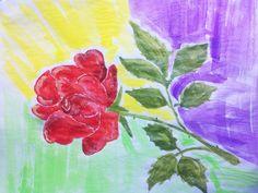Роза  на  столе.