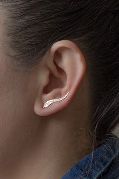 Sterling Silver Ear Cuffs -Ear Cuff Leafs , Natural Silver or Rose Gold Plated, 925 Sterling Silver, For Her by studiomirage on Etsy https://www.etsy.com/listing/220222752/sterling-silver-ear-cuffs-ear-cuff-leafs