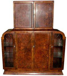 1930u0027s Art Deco Cocktail Cabinet