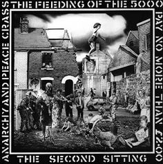 """Classic #Punk Rock Albums. Crass - The Feeding Of The 5000.  This 12"""" was repressed on Crass Records with a poster cover."""