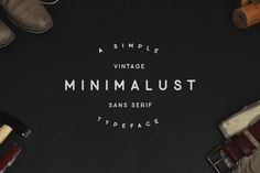 Minimalust Typeface by pratamaydh on @creativemarket