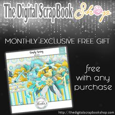 """☀️ NEW FREE GIFT Available ☀️ The Digital ScrapBook Shop ☀️ """"Simply Spring Minikit"""" offered by """"ILONKA'S SCRAPBOOK DESIGNS"""" ::::: This gift is FREE with any purchase during the month of March ::::: http://thedigitalscrapbookshop.com/store/index.php?main_page=freegifts"""