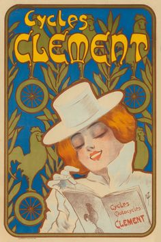 FERDINAND MISTI-MIFLIEZ (French, 1800-1930). Cycles Clement.Color poster.