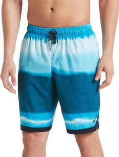 YGE.I.L25 Mens Swimming Shorts Thin Blue Line Flag Quick Dry Beach Boardshort with Pocket