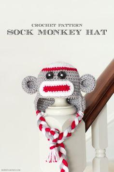 Monkey in the Round Baby Hat