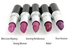 MAC Cosmetics Men Love Mystery Strong Woman Evening Rendezvous Rebel Pure Heroine