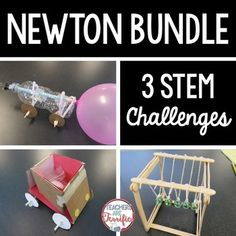 STEM Challenges: Heres a set of three challenges that all involve Newtons Laws of Motion! Students will be learning about the second and third laws specifically and designing bottle cars, egg cars, and Newtons cradles! Fabulous and fun!Please note: This package contains three challenges.