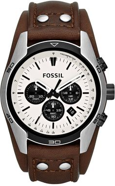 Fossil Watches, Men's Coachman Chronograph Leather Watch - Brown #CH2890