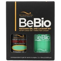 Bio Seaweed Gel Color + Matching Lacquer Granny Smith #19