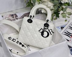Christian Dior ABC Dior shoulder bag black hardware Dior Bags, Lady Dior, Christian Dior, Hardware, Shoulder Bag, Collection, Black, Fashion, Dior Handbags