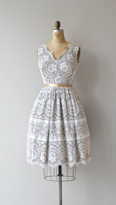 City and Country dress vintage 1950s dress lace by DearGolden
