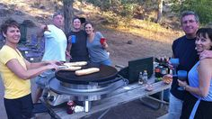 Camping with the Evo Professional Tabletop Grill.