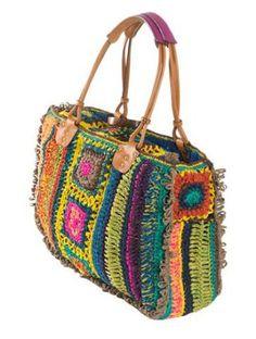My Bags, Purses And Bags, Crochet Brooch, Crochet Needles, Beautiful Handbags, Crochet Purses, Market Bag, Primavera Estate, Love Crochet