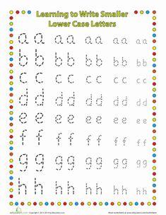 Kindergarten Fine Motor Skills Handwriting Worksheets: Small Letters: Lower Case