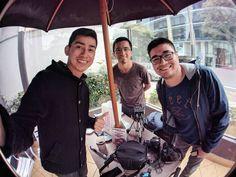 Uniendo fuerzas con @richardquirozr y @demastecnologia hablando de #Tecnologia pronto el vídeo por nuestros canales gracias por su tiempo muchachos #Youtubers #Perú #Team