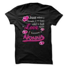 Fall in Love again Nonna magenta - #mothers day gift #shower gift. FASTER => https://www.sunfrog.com/LifeStyle/Fall-in-Love-again-Nonna-magenta.html?68278
