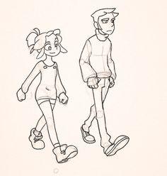 caminar animacion
