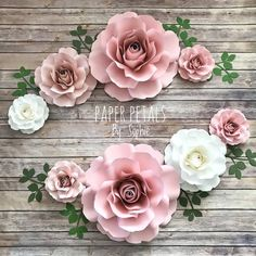 Items similar to 8 Piece Paper Flowers Set Paper Flower Wall, Paper Flower Backdrop, Giant Paper Flowers, Paper Roses, Diy Flowers, Floral Flowers, Tissue Flowers, Art Floral, Crafts For Teens To Make
