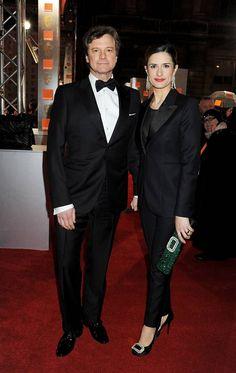 Livia Firth wearing a Paul Smith tuxedo