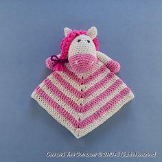 Ravelry: Pony Security Blanket pattern by Carolina Guzman.