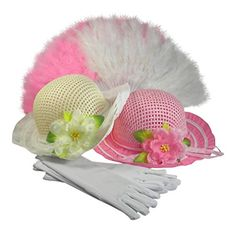Easter Happy Fun Girls Hat Purse Set Ribbon Tea Party Dress Up White