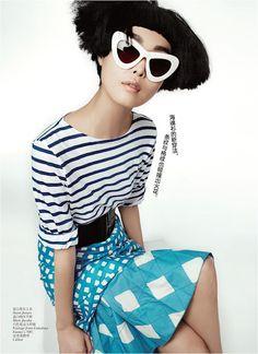 """""""Prints Rule"""" Fashion Editorial May 2012. Vogue China"""