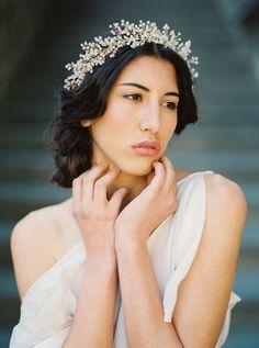Corona nupcial Astilbe cristal flor corona por MelindaRoseDesign