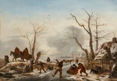 Philips Wouwerman - Winterlandschap