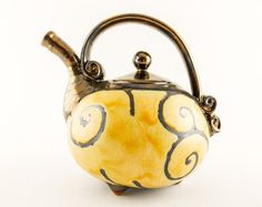 Handmade Ceramic Teapot 37oz Ceramics and pottery by Avanturine