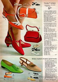 60s Shoes, Shoes Ads, Retro Shoes, 60s And 70s Fashion, Retro Fashion, Vintage Fashion, Classic Fashion, Vintage Shoes Women, Vintage Outfits