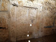 A painting and inscriptions resembling the eternal life of the deceased in the afterlife found inside the tomb of the head of army archives ...