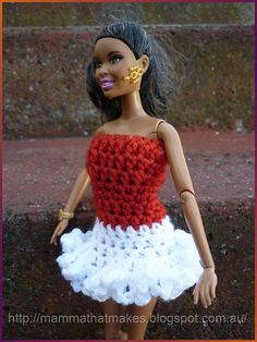 Mamma That Makes: Barbie Dress - Christmas Party Ruffles
