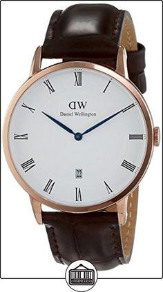 Daniel Wellington 1102DW Reloj con correa para hombre, color blanco/marrón oscuro de  ✿ Relojes para hombre - (Gama media/alta) ✿