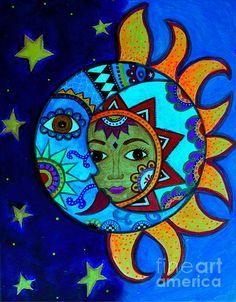 sun and moon, celestial, luna, sol, whimsical, folk art, painting, original, popular, best-seller, great gift, present, pristine cartera-turkus, prisarts, star, moon, colors, abstract, brut, philippines, pilipina, filipina, mexican, artes mexicana, guanajuato, california,cool art, restaurant art, kitchen art, interior design, office art, work art, bedroom, nursery, classroom, kindergarten, pre-school, dorm, beautiful art