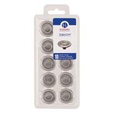 Hickory Hardware VP121 Project Packs 1-3/8 Inch Diameter Mushroom Cabinet Knob Satin Nickel Cabinet Hardware Knobs Mushroom