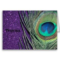 Shop Glittery Purple Peacock Wedding Thank You Cards created by Peacocks. Peacock Painting, Peacock Art, Peacock Theme, Custom Thank You Cards, Wedding Thank You Cards, Dream Wedding, Wedding Stuff, Wedding Ideas, Wedding Planning