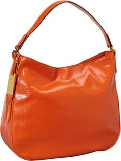 46bcb71f87 Lauren Ralph Lauren Banbury Snake Hobo Orange