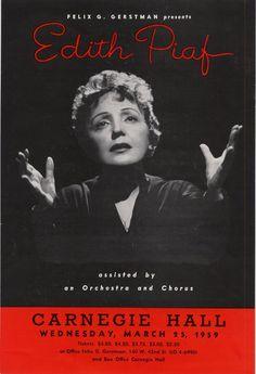 Live from Carnegie Hall: Edith Piaf | Carnegie Hall 1959