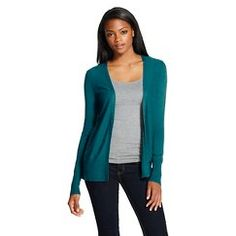 #Target #Mossimo Women's Long-Sleeve Cardigan in Teal