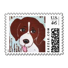 Beagle Puppy Stamps; Abigail Davidson Art