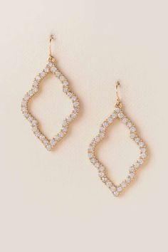Christine Filigree Deco Drop Earring